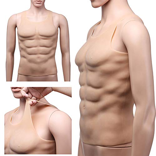 Zaoyun Männer Realistic Muscle Shirt  Fake Chest (A-1750g)