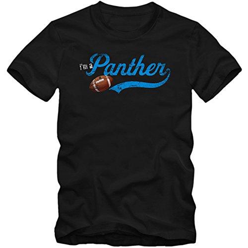 I'm a Panther #1 T-Shirt | Super Bowl | Play Offs | American Sports | Tee | Kindershirt | Jungen | Mädchen, Farbe:Schwarz (Deep Black L190k);Größe:12 Jahre (142-152 cm)