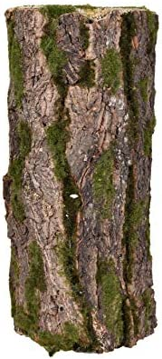 YATAI Fairy Garden and Terrarium Decorative Mossy Tree Stump Display Riser Cover for Yard, Landscape, and Gard