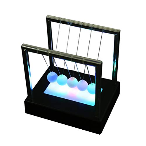 Clispeed light up newton cradle balance balls pendolo home office paraurti ball decorazione desktop nero