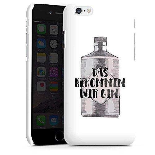 Apple iPhone X Silikon Hülle Case Schutzhülle Spruch Statement Das bekommen wir Gin Premium Case matt