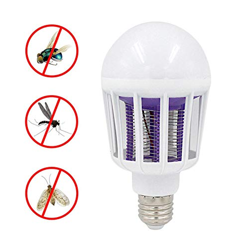 JIAJU Bug Zapper Glühbirne 9W 2 in 1 Moskito Mörder Lampe E27 Base Bug Zapper Light Indoor Outdoor - Base-bug