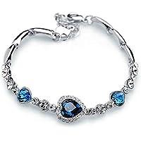 IXIQI Jewelry il mare Cuore Cristallo Blu