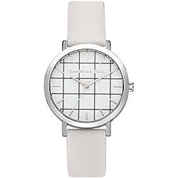 Christian Paul grl-03Herren Armbanduhr Edelstahl weiß Leder Band Weiß Zifferblatt
