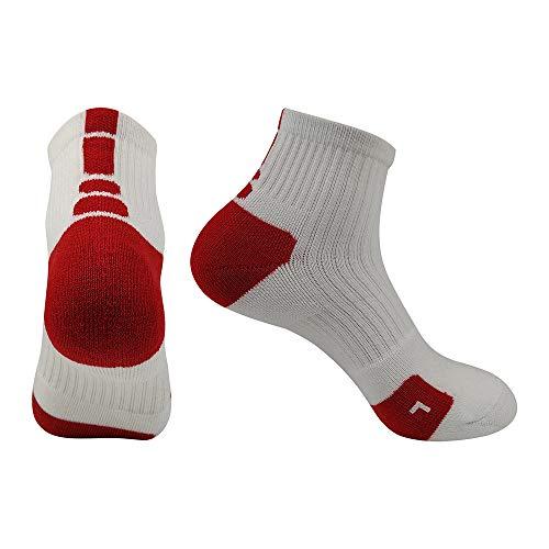 r Basketball Die Hälfte Socken Schnell Trocknend Terry Im Freien Sportsocken für Bergsteigen, Reisen Sie Zu Fuß,c ()