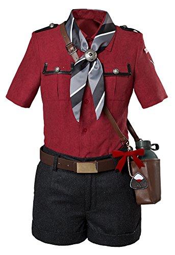 Token Touken Ranbu Hyuuga Hyuga Masamune Cosplay Kostüm Anzug Battle Outfit Rot Damen ()