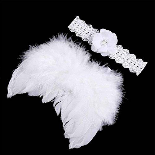 Wie Flügel Machen Kostüm Sie Engel - Baby Newborn Winkel Feder-Flügel und Blumen-Stirnband-Fotografie Prop-Klage-Kind-Kleidung-Klage Pandiki