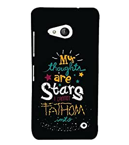 FUSON My Thoughts Are Stars 3D Hard Polycarbonate Designer Back Case Cover for Microsoft Lumia 550