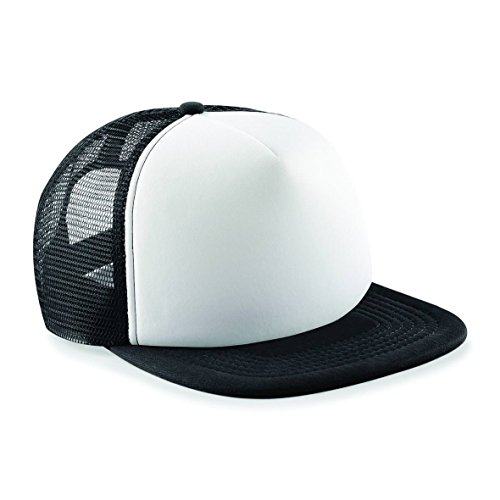Beechfield Headwear Big Blue Vintage-Snapback Trucker - Black / White