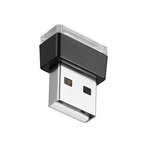 TiooDre USB Night Light LED, couleur RGB LED USB Mini sans fil voiture d'éclairage intérieur AtmosphÚre LumiÚre Universelle