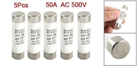 500V 50A Keramikrohr zylindrische Sicherungen 14 x 51mm (Tasche von