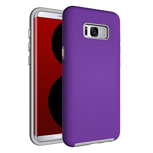 Slynmax Coque Samsung Galaxy S8 Plus Violet, Luxe Housse TPU Slim Bumper Souple Silicone Etui Housse de Soft Case Cas Couverture Anti Choc Ultra Mince Légère Coque pour Samsung Galaxy S8 Plus