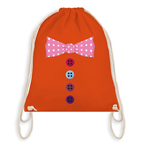 Anlässe Kind - Clown Kostüm rosa Fliege - Unisize - Orange - WM110 - Angesagter Turnbeutel / Gym Bag