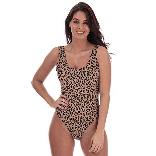 Vero Moda - Bañador para Mujer con Estampado de Leopardo en Ojo de Tigre 36