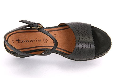 Tamaris 1-1-28370-28/001, Sandali donna Nero