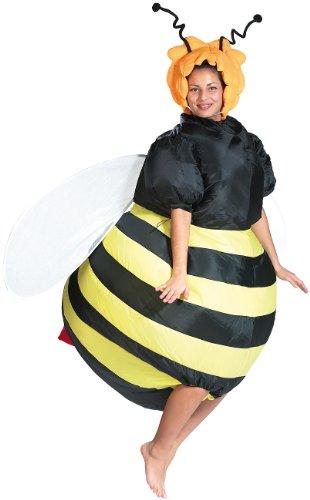 Playtastic Luftkostüm: Selbstaufblasendes Kostüm Fette Biene (Fasnachtskostüm) (Erwachsene Für Halloween-kostüm-ideen)