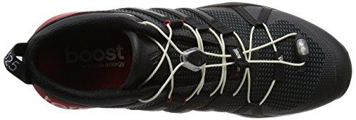 adidas Terrex Boost, Chaussures de Randonnée Basses Homme Noir (Core Black/Dark Grey/Power Red)
