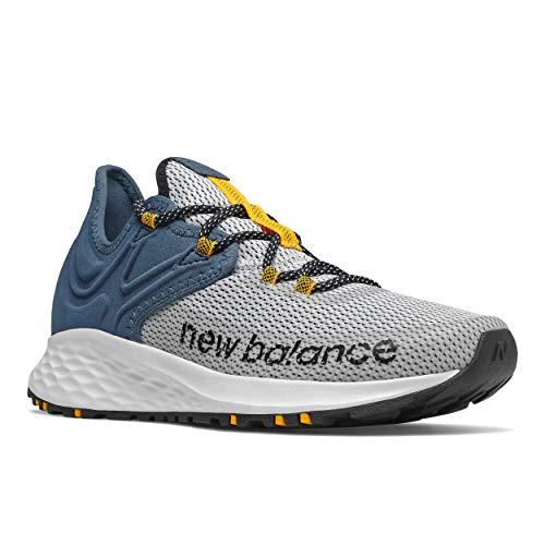 New Balance Roav Trail V1 Zapatillas de Correr de Espuma Fresca para Hombre, Blanco/Stone BLU, 42.5...