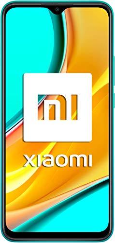 """Oferta de Xiaomi Redmi 9 - Smartphone con Pantalla FHD+ de 6.53"""" DotDisplay, 4 GB y 64 GB, Cámara cuádruple de 13 MP con IA, MediaTek Helio G80, Batería de 5020 mAh, 18 W de Carga rápida, Verde"""