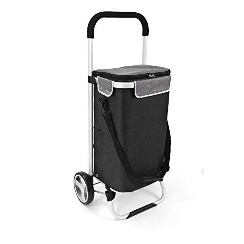 bremermann Einkaufstrolley BRINKUM, Handwagen, Einkaufswagen mit Abnehmbarer Tasche (schwarz)