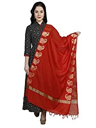 Dupatta Bazaar Womens Dupatta (DB1146_Red_Free Size)