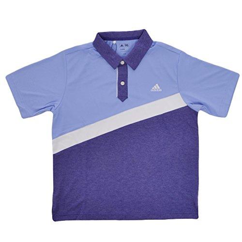 adidas Performance Boys, Golf, Polo–12Y, Blue,Purple