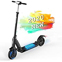 Electric Scooter Adults Kugoo S1 Foldable & Folding E-Scooter 350W Motor LCD Display Screen 3 Speed Modes 8 Inches Solid Rear Tire 18 Miles Long Range ,Adjustable Height and Easy Operated for Commuter