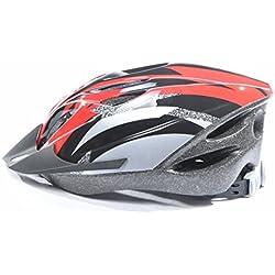 Longra Respiraderos Deportes para Adultos camino de la montaña en bicicleta Bicicleta Casco (Rojo)