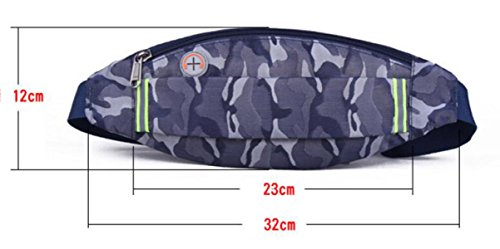 GXYLLDS Waist Pack Sport Running Fitness Viajes Música Impermeable Seguridad Noche Reflectante Bolsa De Teléfono Móvil Hombres Y Mujeres Correa Para Correr,C-OneSize