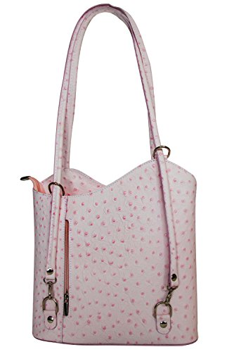Halal-Wear, Borsa a mano donna Mittelgroße Leder Damentasche Pink pur