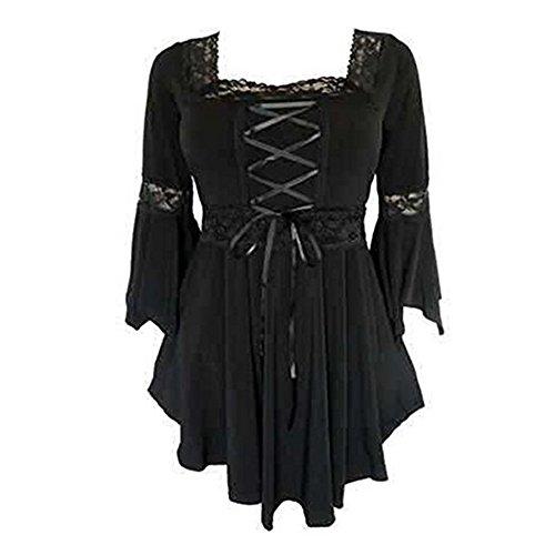 Camisa Atractiva para Mujer Camisas Informales Camisa gótica Camisa de Cuello Cuadrado Chaquetas Hoodies XL Fiesta Diaria