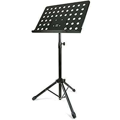 H&S® Heavy Duty Orchestral Conductor Sheet Music Stand Holder Tripod Base Foldable
