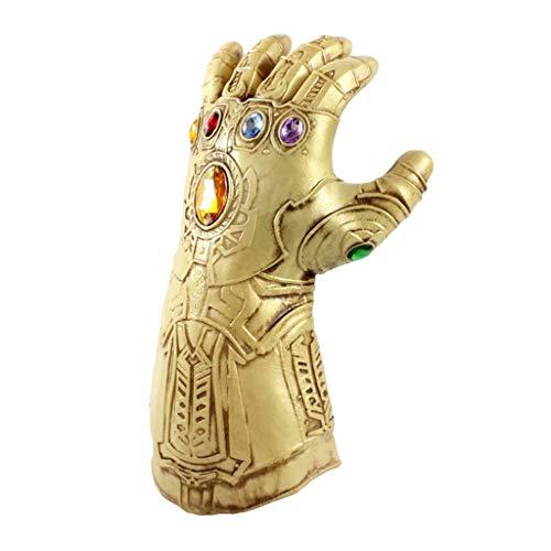 Thanos Handschuhe, Infinity Gauntlet, Marvel Avengers 3: Infinity War, Halloween-Cosplayhandschuhe mit Energiesteinen Herren Movie Fancy Dress Party Gold Deluxe Edition Zubehör,Infinity-OneSize