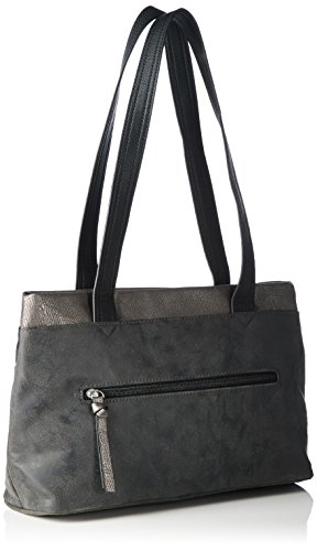 Tamaris - KHEMA Shoulder Bag, Borse a Tracolla Donna Nero (Schwarz (black comb 098))