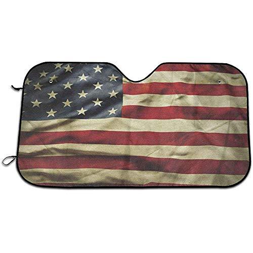 Parasol Parabrisas Bandera Americana Coche Ventana