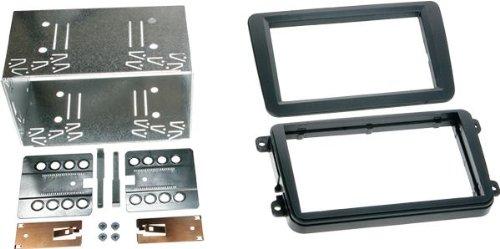 ACV 381320-10 Doppel-DIN Radioblende Komplettset Einbaurahmen SEAT, SKODA, VW schwarz - Doppel Din Kenwood Stereo