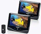 MEDION portabler DVD Player mit 2x 17,78 cm LCD FarbMonitor USB Cardreader Dekra geprüft mit PKW Befestigungskits