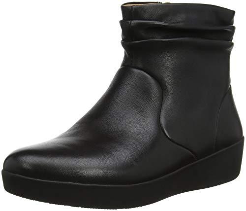 Fitflop SKATEBOOTIE-Leather, Stivaletti Donna, Nero (Black 001), 38 EU