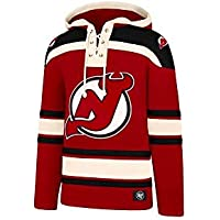 47 Brand NHL New Jersey Devils Eishockey Hoody Hoodie Kaputzenpullover Sweater Lacer Jersey Trikot Hooded