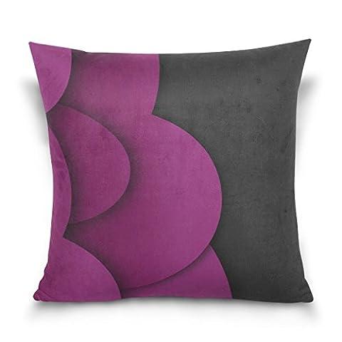 Gary S.Shop Purple Ovals Vector Home Decor Pillow Case 18