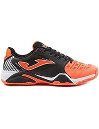 c5dc3029ca5e8 Joma - Zapatillas de Tenis de Material Sintético para Hombre Black-Orange  All Court