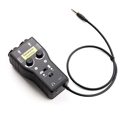 Saramonic SmartRig+ 2-Kanal XLR / 3,5 mm Mikrofon Audio Mixer mit Phantomspeisung Preamp & Gitarren-Schnittstelle für DSLR-Kameras, Camcorder, iPhone, iPad, iPod und Android Smartphones