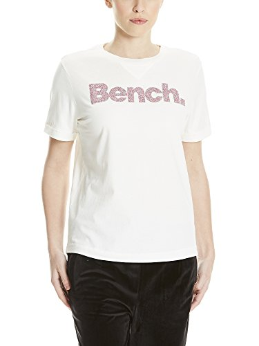 Bench Core Logo August, T-Shirt Donna Bianco (Snow White Wh11210)