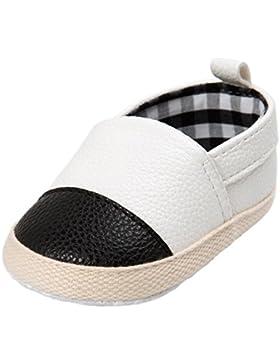 HKFV Die kleinen Lederschuhe des Babys Baby Mädchen Jungen Schuh Casual Leter Schuhe Sneaker Anti-Rutsch Weiche...