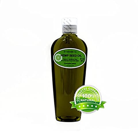 Organic Pure Carrier Oils Cold Pressed 8 oz (Hemp Oil)