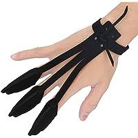 Schießhandschuh Bogenhandschuh 3 Finger mit Handschlaufe Bogenschützer Schutzhandschuh für Pfeil Jagd Schießen