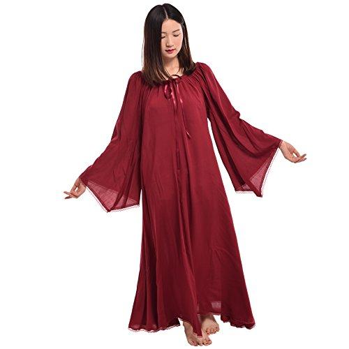 BLESSUME Mittelalterliche Renaissance Frauen Kleid Burgund (L)