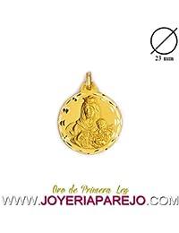 Medalla Virgen del Carmen Oro 18K. 750Mls. 23Mm.