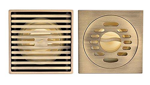 Bronze Zeichnung magnetische Dichtung vier Anti Bodenablauf zwei geladene (Dusche Bodenablauf + Waschmaschine drain)