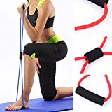 DIVINE LIFE Resistance 8 Type Muscle Chest Expander Rope Workout Pulling Exerciser Fitness Exercise Tube Sports Yoga - Multi Color